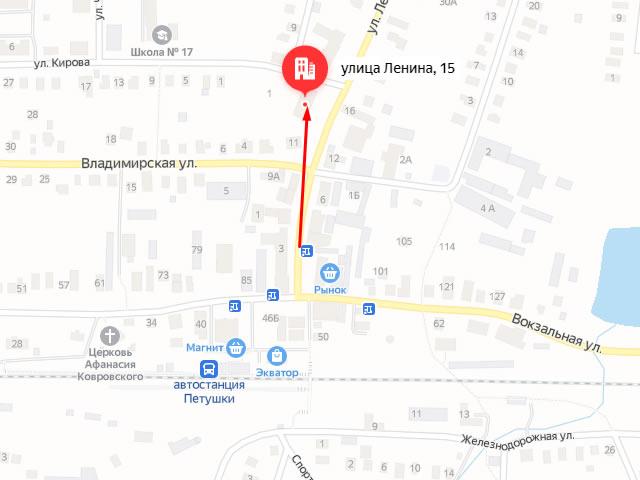 Отдел опеки и попечительства по г. Петушки на ул. Ленина