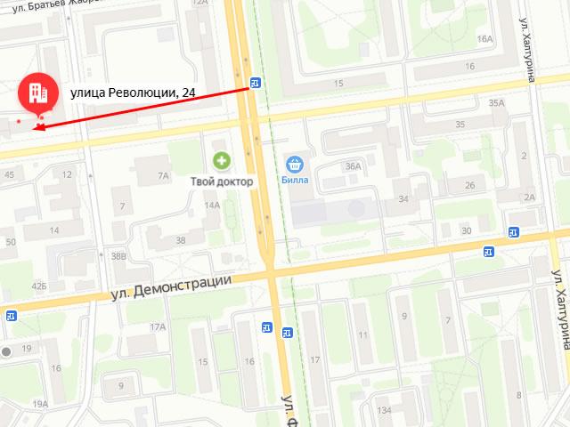 Органы опеки по Зареченскому району Тулы на ул. Революции
