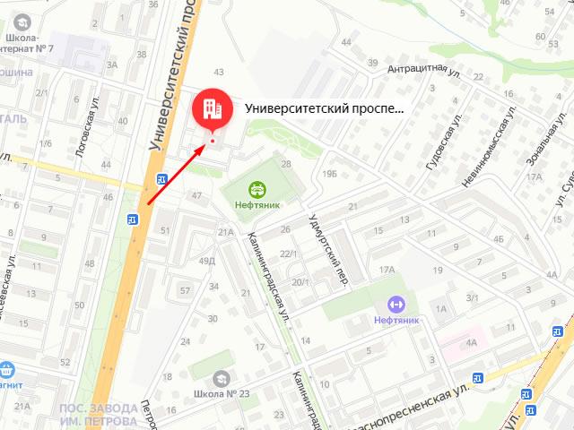 Отдел опеки и попечительства администрации Советского района Волгограда на пр-кте Университетский