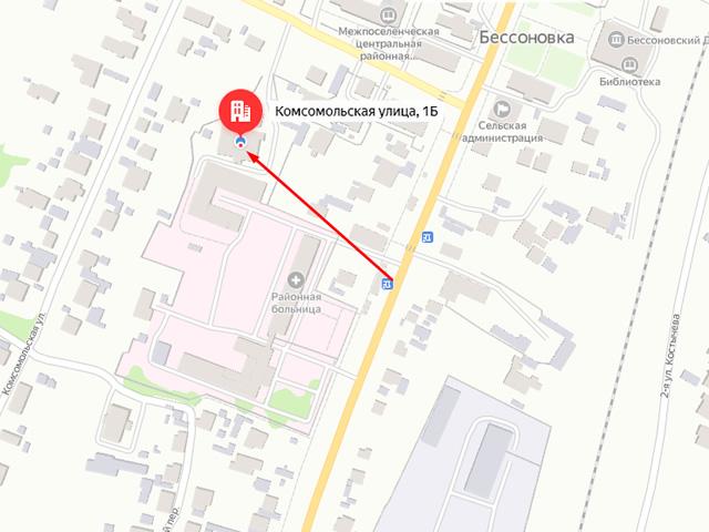 Отдел опеки и попечительства Управления образования Бессоновского района в с. Бессоновка на ул. Комсомольская