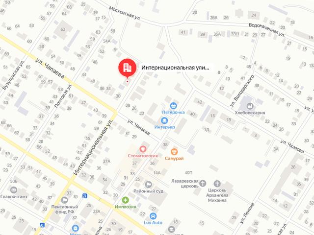 Отдел опеки и попечительства Управления образования Сорочинского городского округа на ул. Интернациональная