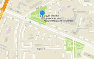 Органы опеки Центрального района Кемерово